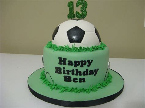 birthday cakes  boys simple soccer cake