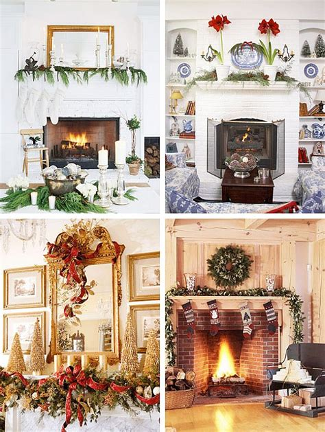 christmas indoor decorations fireplace windows
