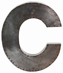 Metal alphabet wall decor letter quotcquot wall letters by for Metal letter c