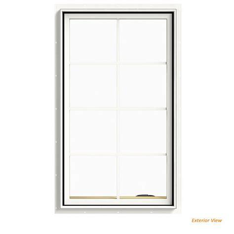 american craftsman       series casement  hand vinyl window white  csmt