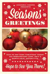 Christmas Greetings Flyer Template