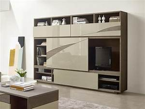 Meuble De Rangement Salon : des meubles de rangement dans le salon leroy merlin meuble ~ Dailycaller-alerts.com Idées de Décoration