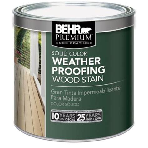 Behr Premium Deck Stain Home Depot by Behr Premium 8 Oz White Base Solid Color Weatherproofing