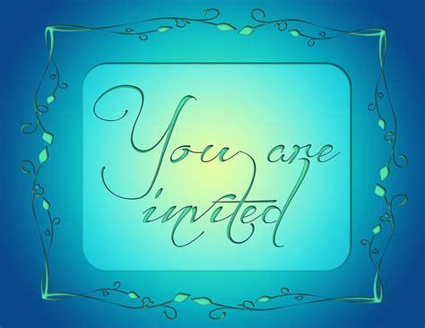 gratis illustratie uitnodiging uitnodigen blauw