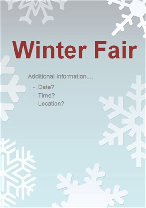 editable winter fair poster   early years primary