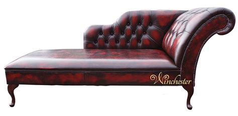 Chesterfield Chaise Longue by Chesterfield Leather Chaise Lounge Day Bed Antique Oxblood
