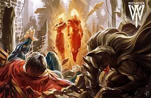 Goku & Vegeta vs Batman & Superman Fan Art – Animated Cartoons