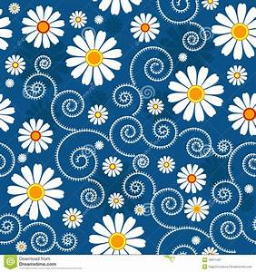 Dark blue floral pattern stock vector. Illustration of ...