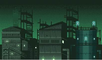 Parallax Industrial Pixel Games Night Themed Layered