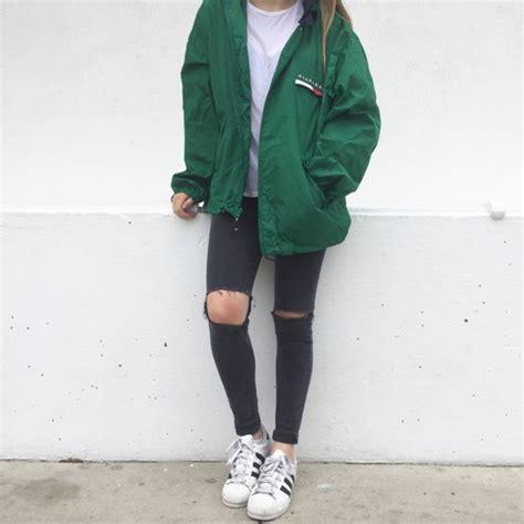 Jacket green tommy hilfiger windbreaker tumblr hoodie tommy hilfiger tommy hilfiger ...