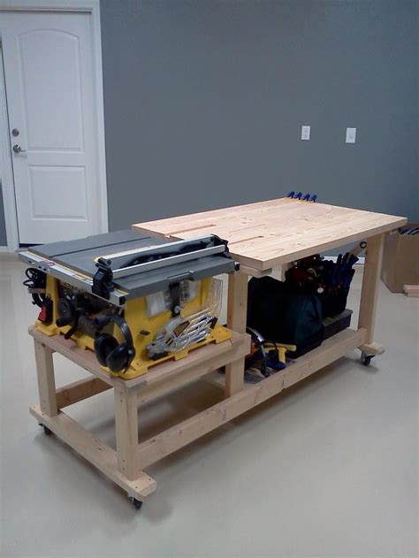 Table Saw Workbench Plans Diy Free Download Gate Fence
