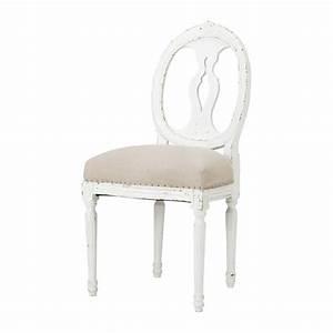 Chaise Tolix Maison Du Monde : chaise m daillon en lin et bois massif h loise maisons du monde ~ Melissatoandfro.com Idées de Décoration