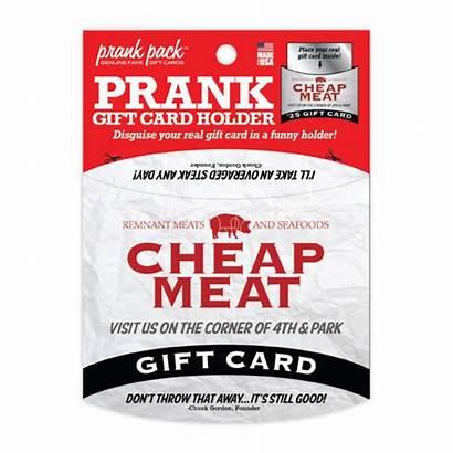 Gift Card Cheap Prank Holder Meats Gag