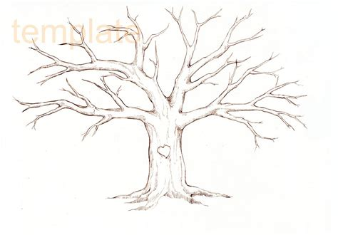 Tree Template Family Tree Template Family Tree Thumbprint Template