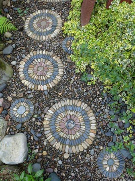pebble mosaic pebble mosaic stepping stones https www facebook com gardensbyjeffreybale garden pebble