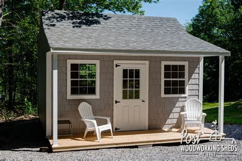 Shed With Porch by Vinyl Shake Shed With Farmers Porch Post Woodworking