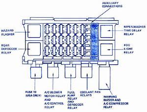 Pontiac Montana Van 1999 Fuse Box  Block Circuit Breaker