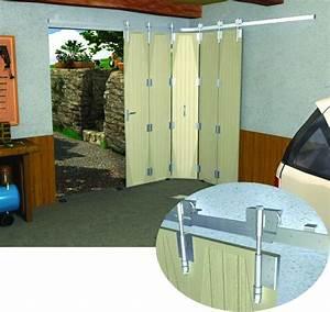 monture et charniere porte a deplacement lateral sur With porte de garage coulissante sur rail