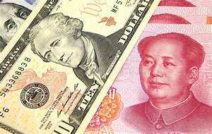 Rmb To Euro Chart Us Dollar Vs Chinese Rmb Stock Image Image Of Degradation
