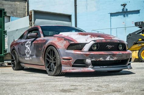 rust mustang wrap ford wrapped cars vinyl crazy gtspirit rusty paint gt wrapping custom cool camouflage mustangs unique classic maryland