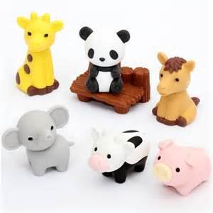Iwako erasers Zoo Animals 7 pieces set by Iwako