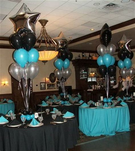 And Blue Birthday Decorations - black and blue centerpieces quince