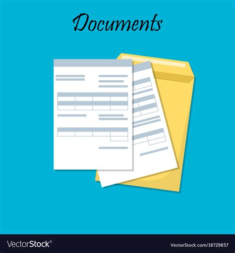 documents clipart for business documents royalty free vector image