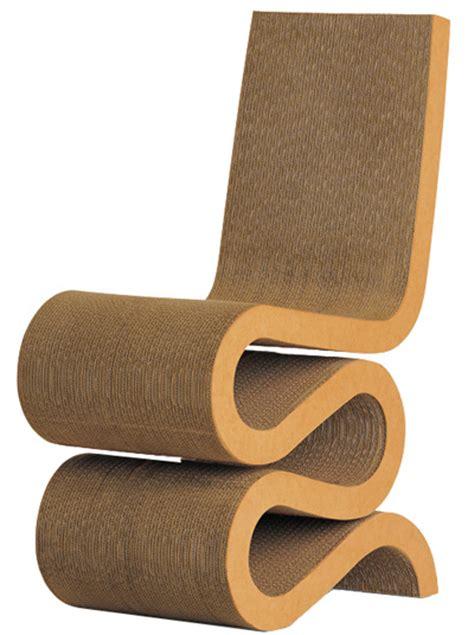 frank gehry original cardboard vitra wiggle side chair