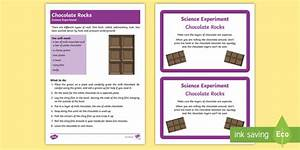 Ks1 Chocolate Rocks Science Experiment And Prompt Card