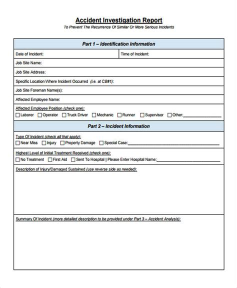 accident report forms