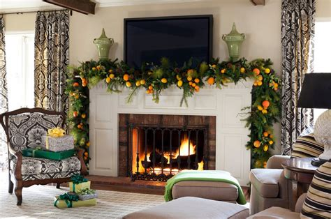 mantel christmas garland ideas interior design ideas
