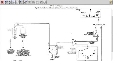 Automotive Wiring Diagram 1993 Chevy by 1993 Chevy Lumina Wiring Diagram For The Starter