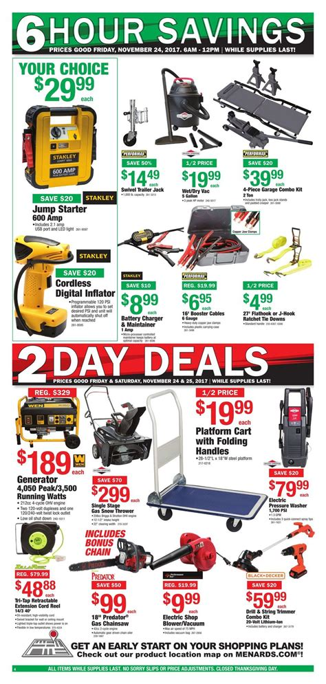 black friday table deals 2017 menards black friday ad 2017