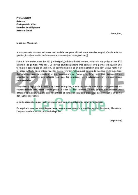 lettre de motivation pour un emploi d assistante de gestion d 233 butante pratique fr