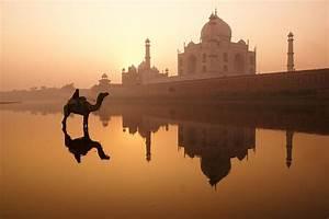 Taj Mahal At Sunrise Photograph by Michele Burgess