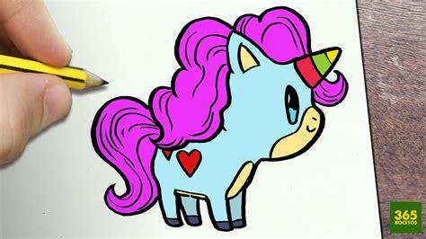 como dibujar unicornio kawaii paso  paso dibujos kawaii faciles   draw  unicorn youtube