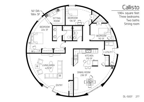 Monolithic Dome Homes Floor Plans by Floor Plan Dl 5007 Monolithic Dome Institute