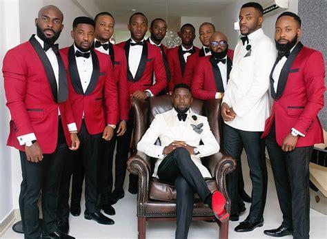 Red Black And White Wedding Tuxedo 111