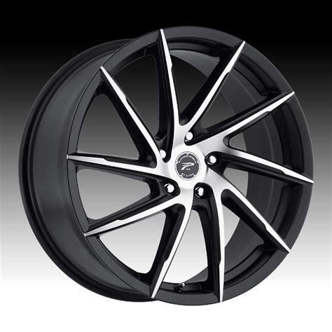 wheels hawk platinum 433 hawk machined satin black custom wheels rims