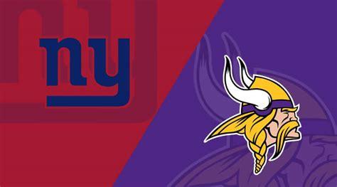 minnesota vikings   york giants matchup preview