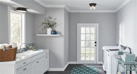 Utility Or Laundry Room Lighting With A Combination Of