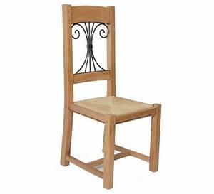 Chaise Fer Forgé Et Bois : chaise ch ne massif fer forg batista 1477 ~ Dailycaller-alerts.com Idées de Décoration