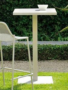 Plan De Travail Carré : round a table haute emu en m tal pour jardin plan de travail carr hauteur 105 cm ~ Melissatoandfro.com Idées de Décoration