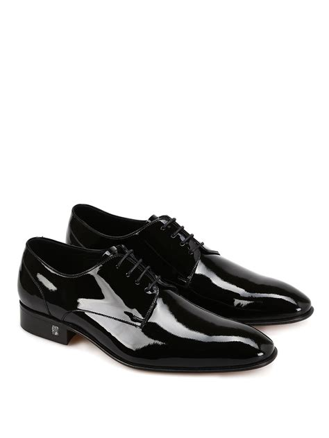 Shoes For by Versace Collection Patent Leather Oxford Shoe Classic