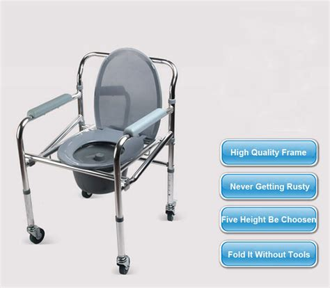 folding aluminum shower chair wheelchair commode wheels