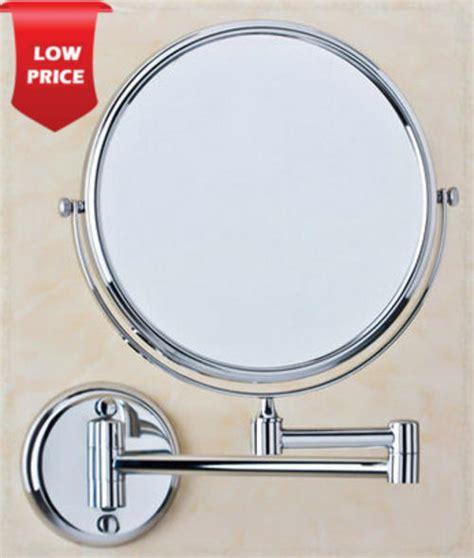 Mirrors  Extendable 2sided Rotating Bathroom Mirror And