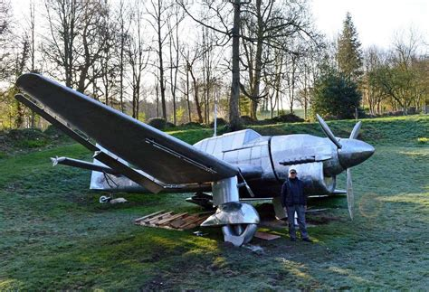 Stainless steel Junkers Stuka dive bomber is a new exhibit ...