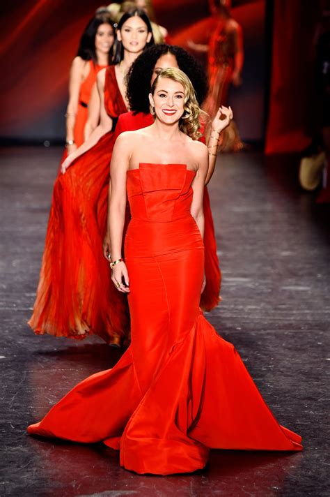 red  women red dress collection show