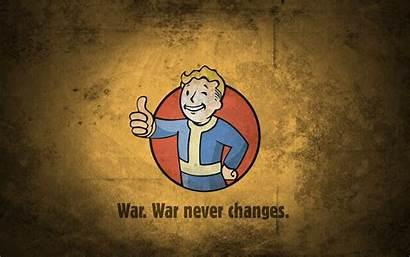 Fallout Vault Boy War Changes Never Wallpapers