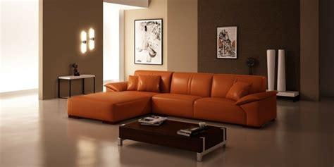 canapé cuir orange canapé orange un meuble original pour le salon